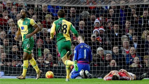 De Gea se desplomó en uno de los goles del Norwich